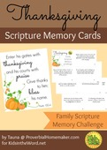 Thanksgiving scripture memory cards
