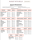 Bwb budget worksheet photo