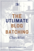 Ultimate blog batching checklist