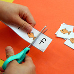 Alphabet cutting strips 2