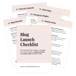 Blog launch checklist