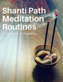 Shanti path meditation routines cover 550
