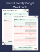 Blissful family budget workbook