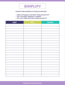 Simple lifestyle checklist mini