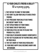 10 warning signs of bully friendship