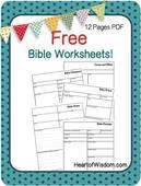 Free biblle worksheets