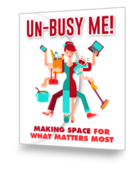 Unbusy me ebook cover