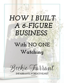 Ebook cover 6 figure biz