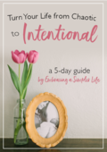 Turn your life from chaotic to intentional cover 4
