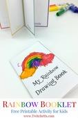 Printable rainbow booklet   teaching rainbow colors pin