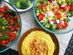 Hummus and salads min