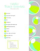 Toddler beach essential checklist