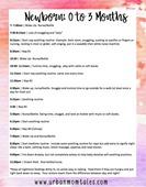 Newborn baby schedule pic