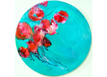 Lory ivey alexander.a pocket full of tears.24 inch diameter.acrylic on wood 1500 centered