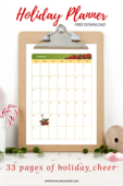 Holiday planner 2017 pin