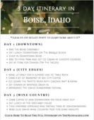 3 day visit boise itinerary the mandagies