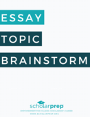 Essay topic brainstorm