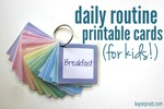 Daily routine printable cards for kids   kaysepratt.com main