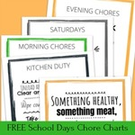 Free school days chore charts for kids opt in
