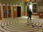 18 foot canvas labyrinth at putney friends meeting