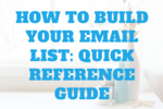 How to build an email list quick reference guide cropped