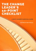 The change leader's 10 point checklist