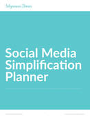 Social media simplification plan cover