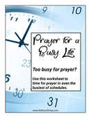 Prayer for a busy life cover