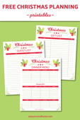 Christmas planner preview