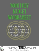 Budget title page