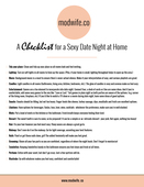 Date night at home checklist