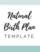 Naturalbirth plan template