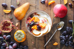 Winter fruit and yogurt flatlay 4