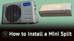 How to install a ductless mini split thumbnail youtube