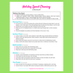 Holiday speed cleaning checklist optin