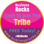 Biz rocks circle tribe blue