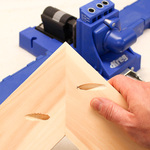 Pocket holes on miter joints feature 1