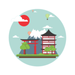 Japan icon   white background