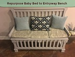 Repurpose baby bed to entryway bench thumbnail