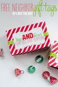 Free christmas neighbor gift tags