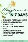 Blogpreneur in 7 days