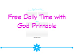 Daily time with god printable