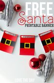 Free christmas printable santa garland