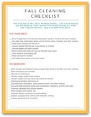 Fall cleaning checklist 450