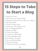 15 steps to take to start a blog checklist