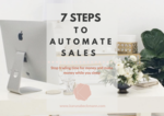 Card style of 7 steps to automate