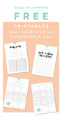 Goal planning free printables fall for diy