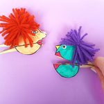 Clothespin craft   make paper puppets fs