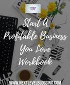 Start aprofitablebusinessyou loveworkbook