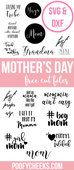 Mothers day cut files silhouette cricut